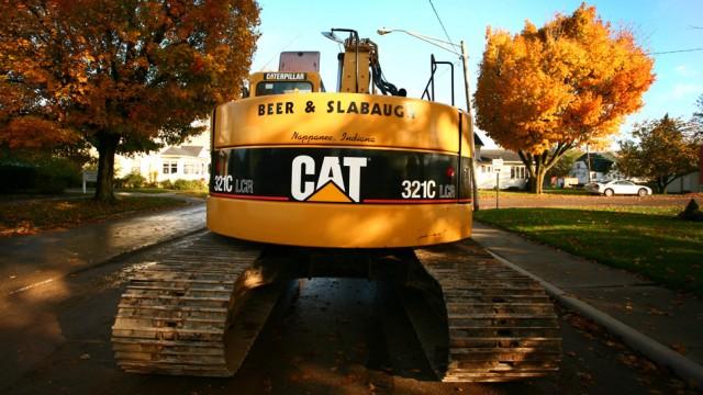 Caterpillar wird von Anlegern gerne als Barometer für die Weltkonjunktur herangezogen: Eine Baumasc