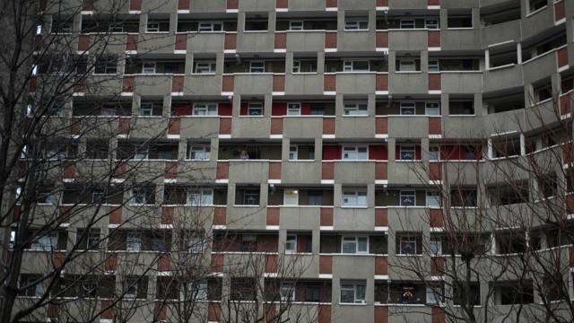 Am grössten ist die Gefahr einer Immobilienblase in London und Hongkong: Wohnblock in London.