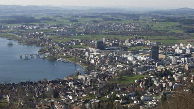 Zug Estates entwickelt, vermarktet und bewirtschaftet Liegenschaften in der Region Zug: Blick auf di
