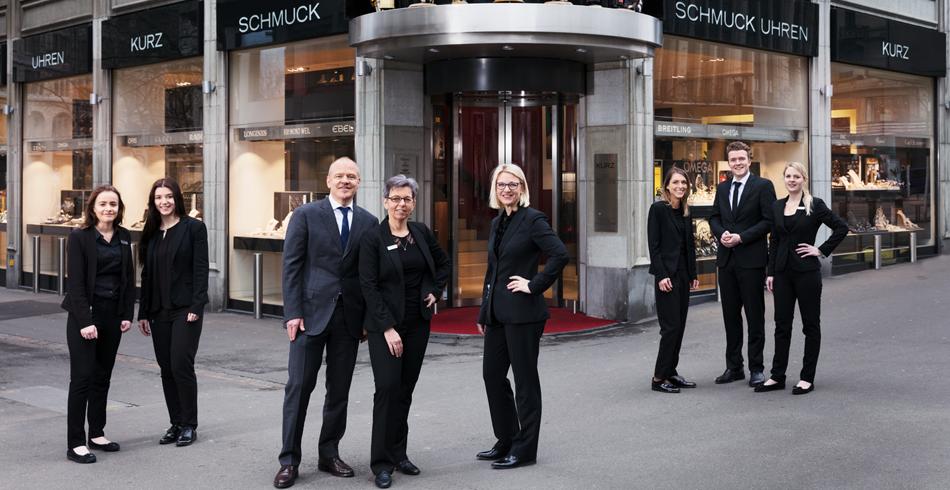 Das Gewinner-Team Multimarken-Boutique in Zürich:  Kurz Uhren und Schmuck an der Bahnhoftrasse.