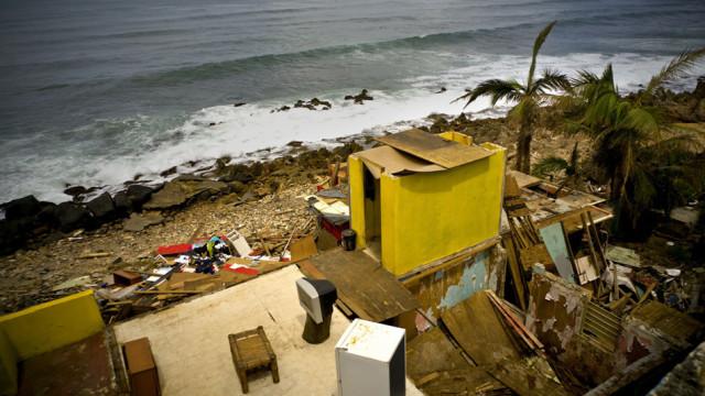 Der Hurrikan «Maria» hat Puerto Rico komplett verwüstet zurückgelassen. So auch diese Strandhüt