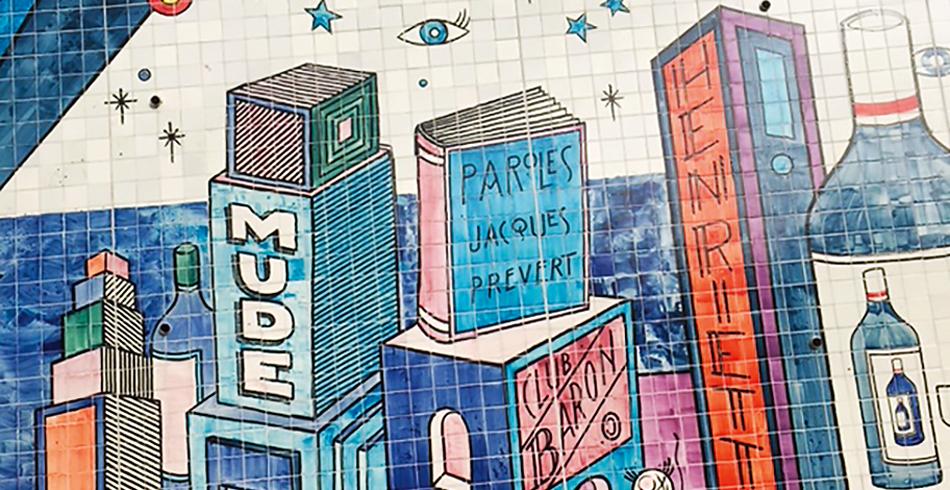 Im Geiste der Streetart-Vorfahren, der Azulejos im 18. Jahrhundert, hat der Pariser Künstler André