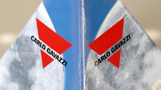 Das Logo der Firma Gavazzi in Steinhausen im Kanton Zug.