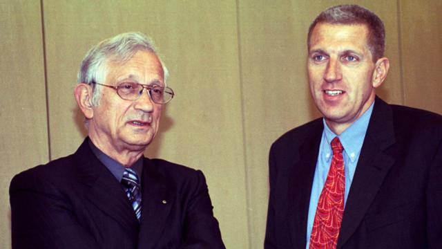 Die Architekten der Moderne: Felix Walker (links), CEO von Raiffeisen Schweiz (1979–1999) und Nach