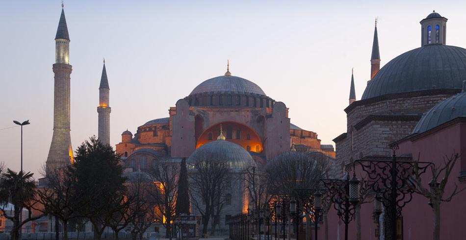 Die einzigartige Hagia Sophia, die letzte spätantike Grosskirche im Römischen Reich.