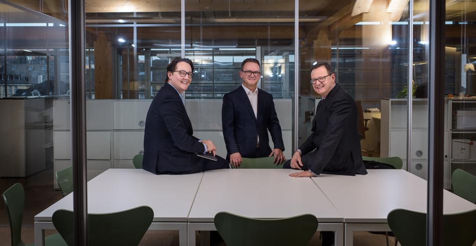 Die Teilnehmer am diesjährigen FuW-Börsenpanel (von links): Lars Kalbreier, Hilmar Langensand und