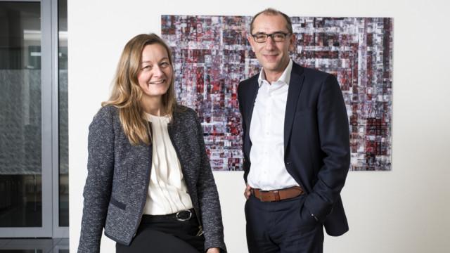 Birgit Heim und Patrick Hofer von AMG ermitteln mit der Alpora-Methode die innovativsten europäisch