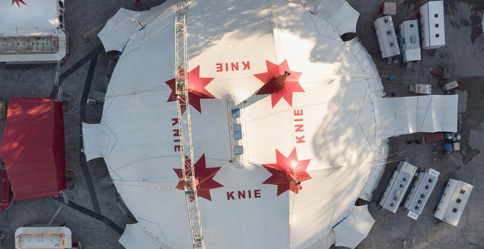 Seit 1919 zieht der Zirkus Knie quer durchs Land. In den wichtigsten Städten der Schweiz macht er H