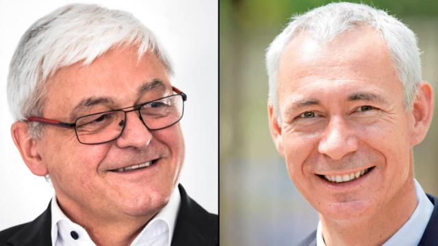 Heinz Kundert (links) und Christoph Kutter streiten sich um das VR-Präsidium.