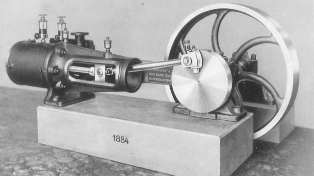 Burckhardt zeigt den ersten Kompressor 1883 an der Landesausstellung in Zürich, im Jahr darauf begi