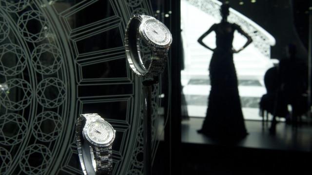 Ausgestellte Uhren von Piaget.