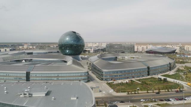 Das Gelände der Expo 2017 ist Sitz des Astana International Financial Centre.