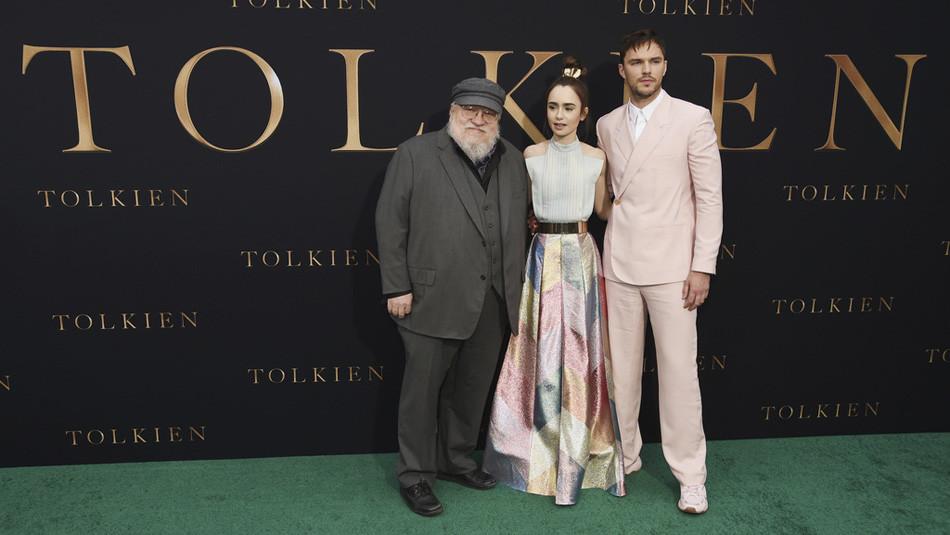 Der Autor von «Game of Thrones», George R. R. Martin, und die beiden Hauptdarsteller Nicholas Houl