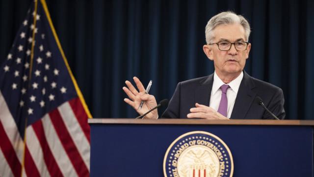 Laut Zentralbank-Chef Jerome Powell treibt die Fed ein «Gefahrenbild» aus Handelskonflikten und ei